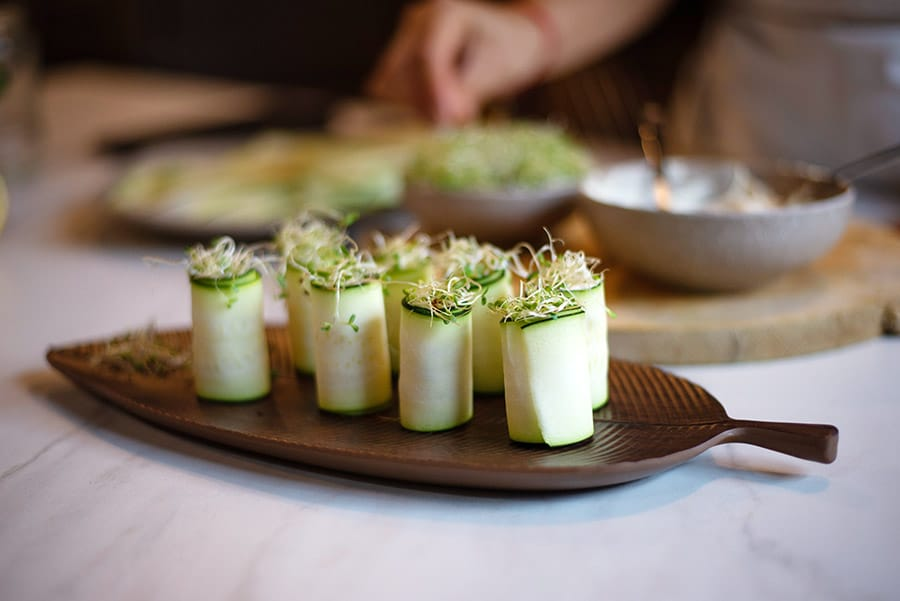 Receta de rollitos cremosos de queso vegetal