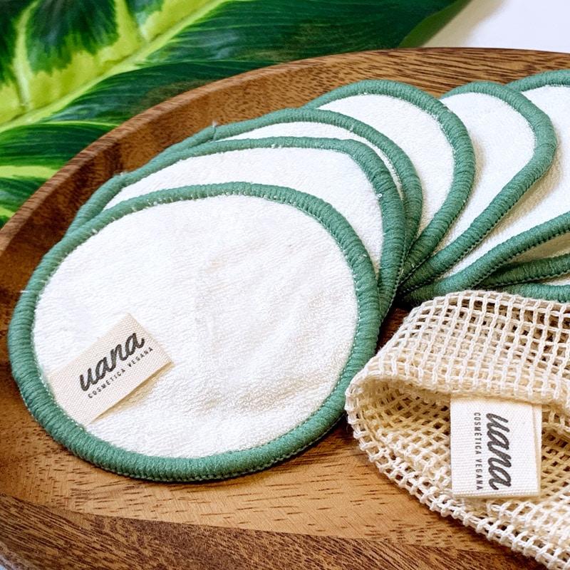 Discos desmaquillantes de algodón ecológicos